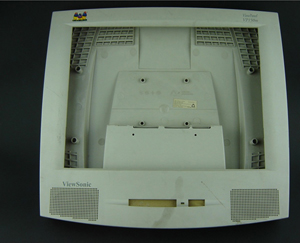 Plastic Injection Mold for Computer Monitor with honeycomb holes